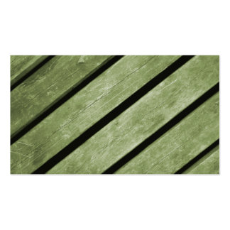 Picture of Green Planks of Wood Business Cards