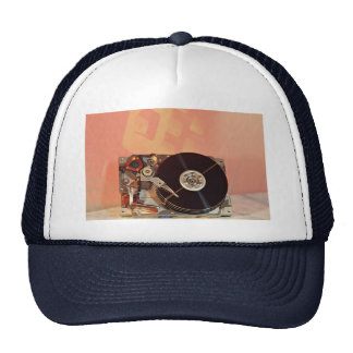 Picture of Hard drive with keyboard background Mesh Hat