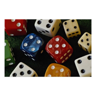 Picture of Multicolored dice Poster