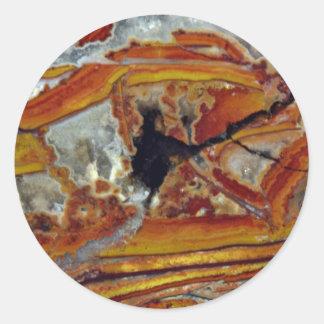 Picture of Orange and yellow jasper Classic Round Sticker