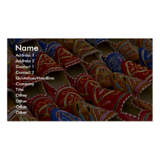 Picture of Shoes at the market Business Card Templates