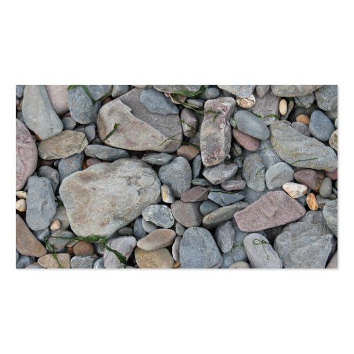 Picture of stones on a beach. business card templates