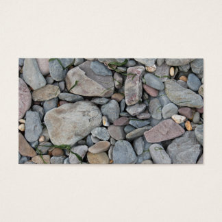 Picture of stones on a beach. business card