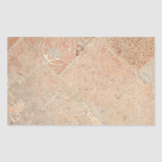 Picture of Vintage Weathered Old tiles. Rectangular Sticker