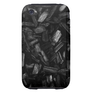 Picture of wood pieces in black and white. tough iPhone 3 case