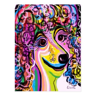 Picture Perfect Poodle Postcard