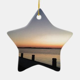 Picture Perfect Sunset Lake Ceramic Star Decoration