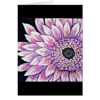 Picture PINK GERBER DAISY Greeting Card