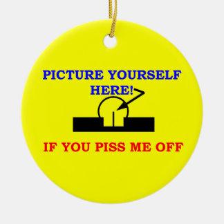 PICTURE YOURSELF ROUND CERAMIC DECORATION