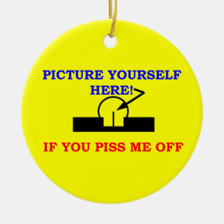 PICTURE YOURSELF ROUND CERAMIC DECORATION