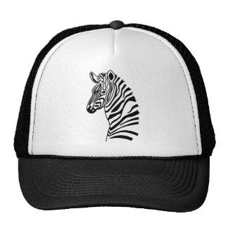 picture zebra mesh hat