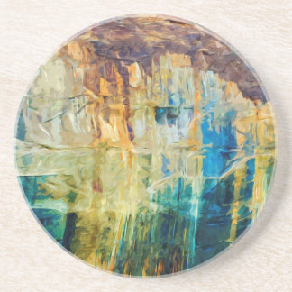 Pictured Rocks National Lakeshore Abstract Coaster