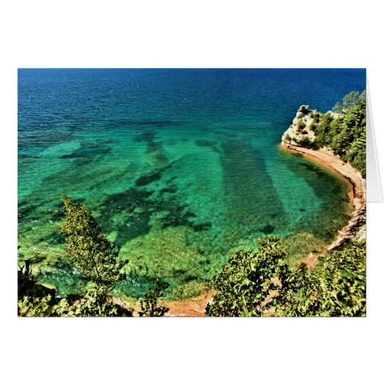 Pictured Rocks National Lakeshore In Michigan Card