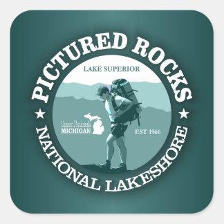 Pictured Rocks NP Square Sticker