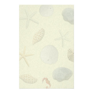 Pictures of Seashells Personal Writing Paper Stationery Design