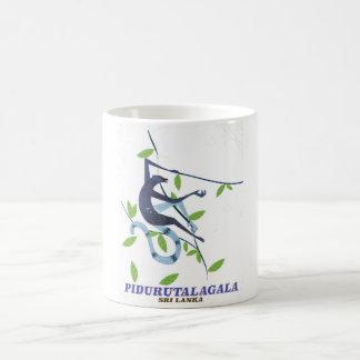 Pidurutalagala Sri Lanka travel poster. Coffee Mug