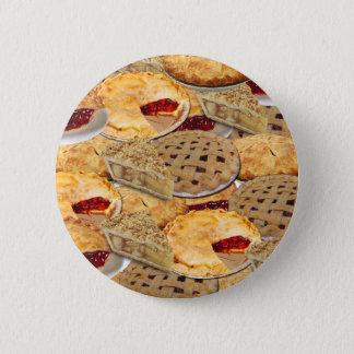 Pie 6 Cm Round Badge
