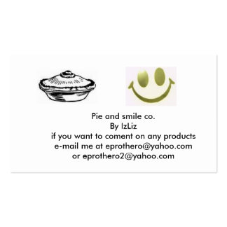 Pie and smile co. business card templates