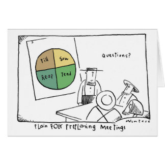 Pie Chart Amish Meeting Card
