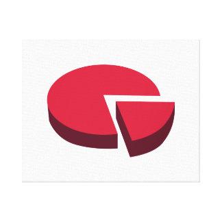 Pie chart diagram canvas print