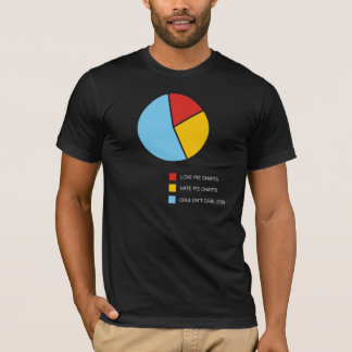 Pie Charts dark t-shirt