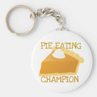 PIE EATING CHAMPION PUMPKIN PIE KEY RING
