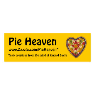 Pie Heaven Profile Card Double-Sided Mini Business Cards (Pack Of 20)