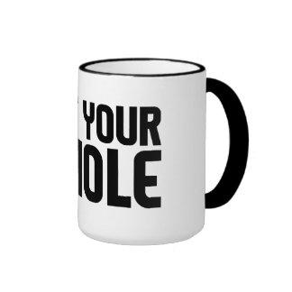 """PIE HOLE"" mug - choose style & color"