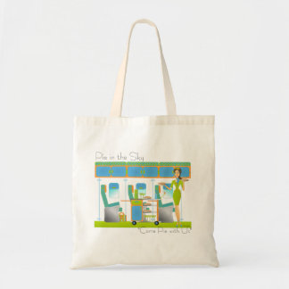 Pie in the Sky Airlines Budget Tote Bag