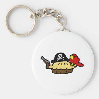 Pie Rate Basic Round Button Key Ring