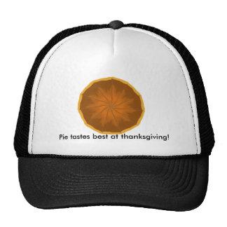 Pie tastes best at thanksgiving! cap