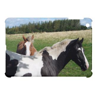 Piebald & Chestnut Horses Case For The iPad Mini