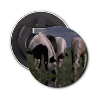 Piebald_Horse_Family,_Magnetic_Bottle_Opener.