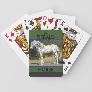 Piebald Horse on a deck of playing cards