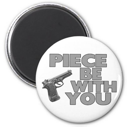 Piece Be With You Magnets