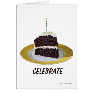 Piece of Birthday Cake Card