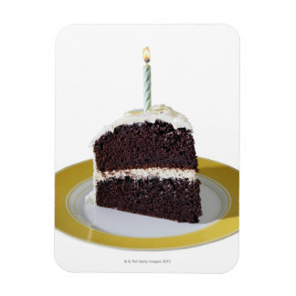 Piece of Birthday Cake Rectangular Photo Magnet