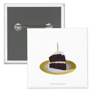 Piece of Birthday Cake Pins