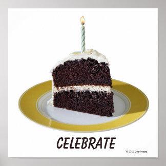 Piece of Birthday Cake Poster