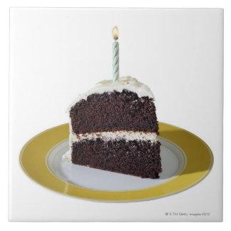 Piece of Birthday Cake Ceramic Tile