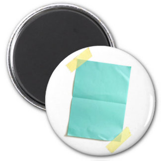 Piece of blank colored paper 6 cm round magnet