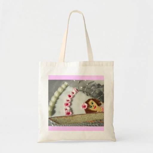 Piece of cake tote bags