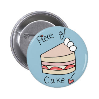 Piece of cake - Blue 6 Cm Round Badge