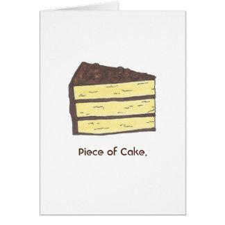 Piece of Cake Chocolate Yellow Cake Card