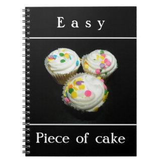 Piece of cake spiral notebooks