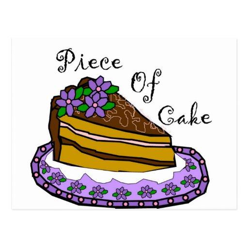 Piece of Cake Postcard