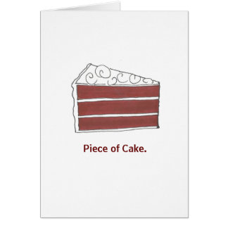 Piece of Cake Red Velvet Cake Slice Congrats Card