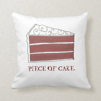 Piece of Cake Red Velvet Layer Slice Foodie Pillow Throw Cushions