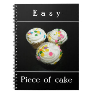 Piece of cake spiral notebooks