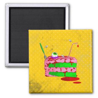 Piece Of Cake Square Magnet